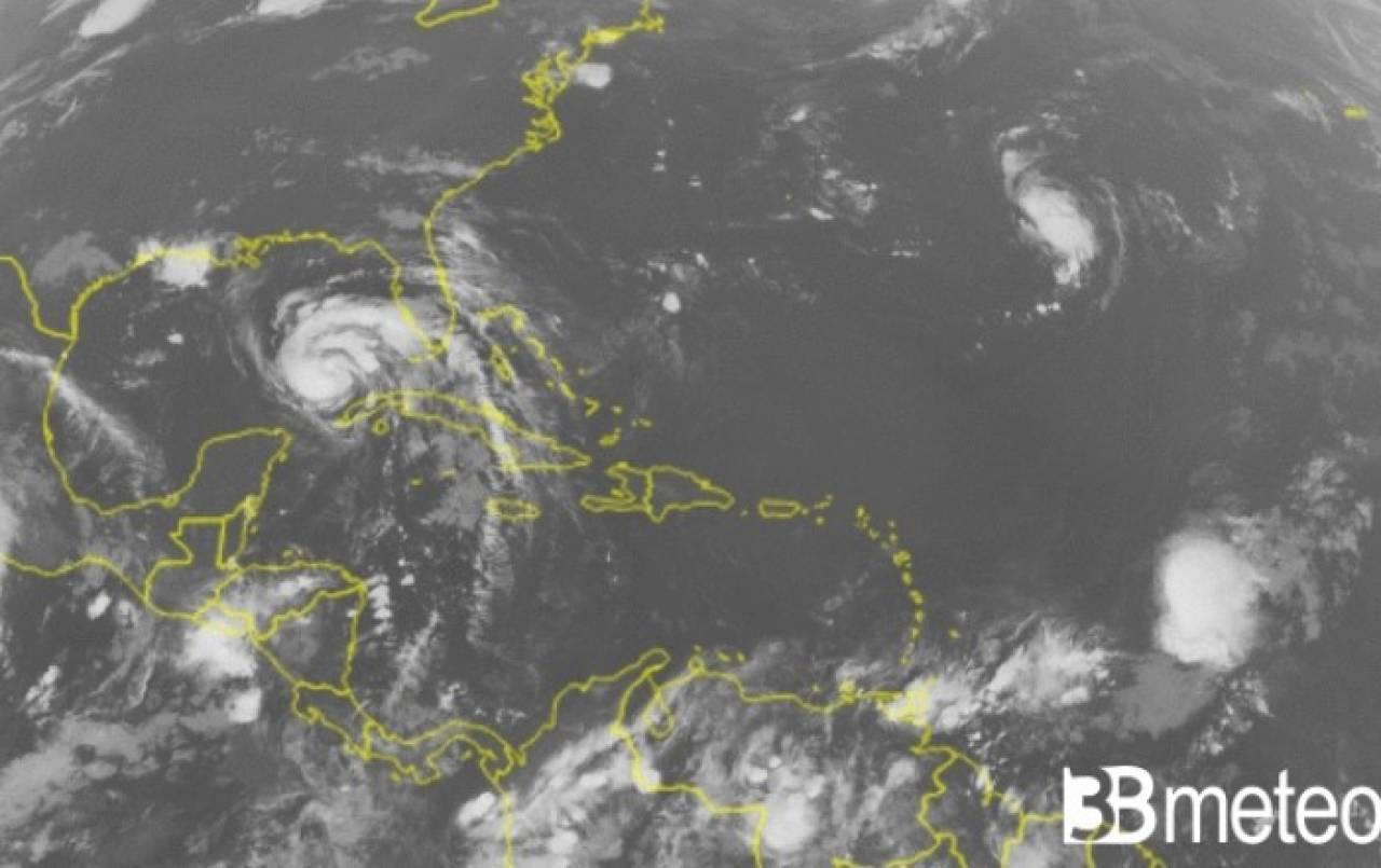 L'uragano Ida visto dal satellite