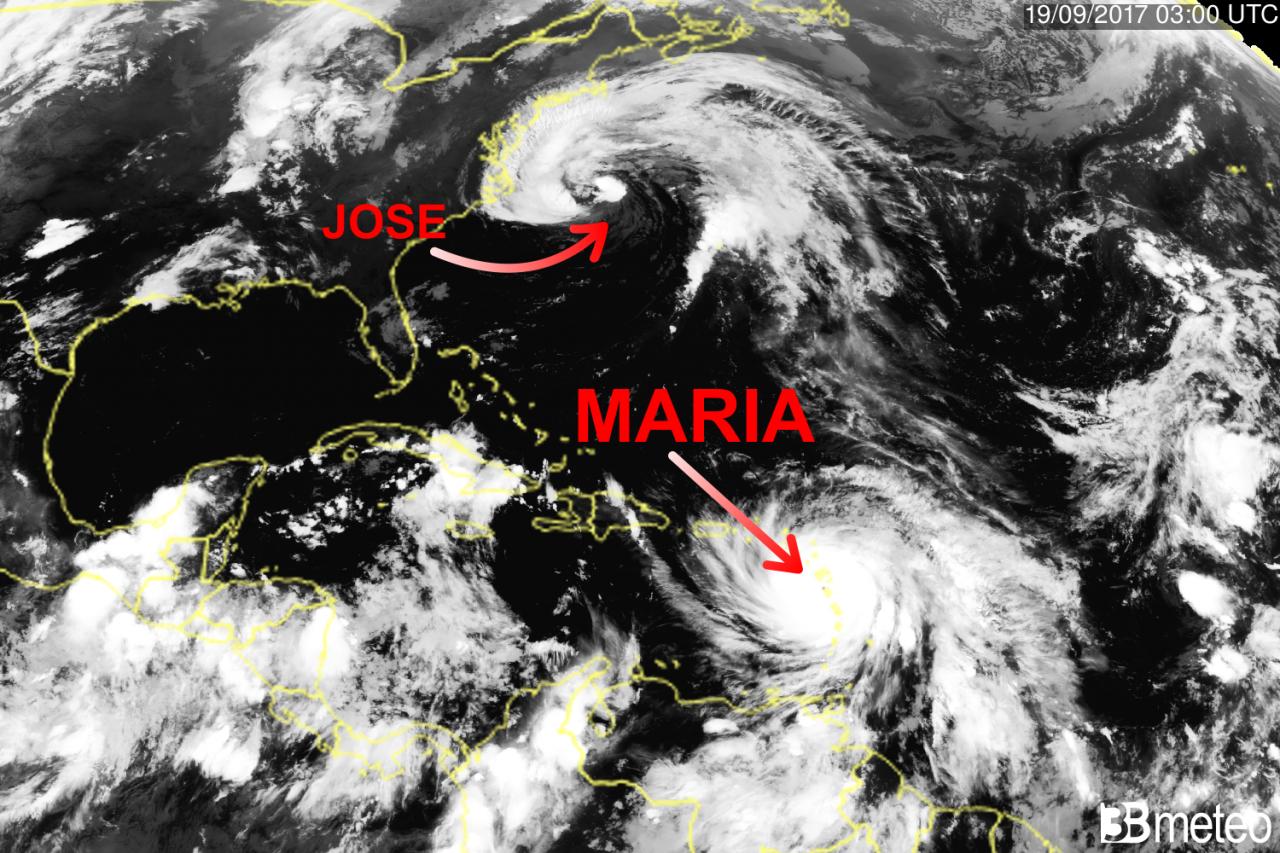 L'uragano Maria raggiunge la categoria 5 e tocca la Dominica. Terrore nei Caraibi