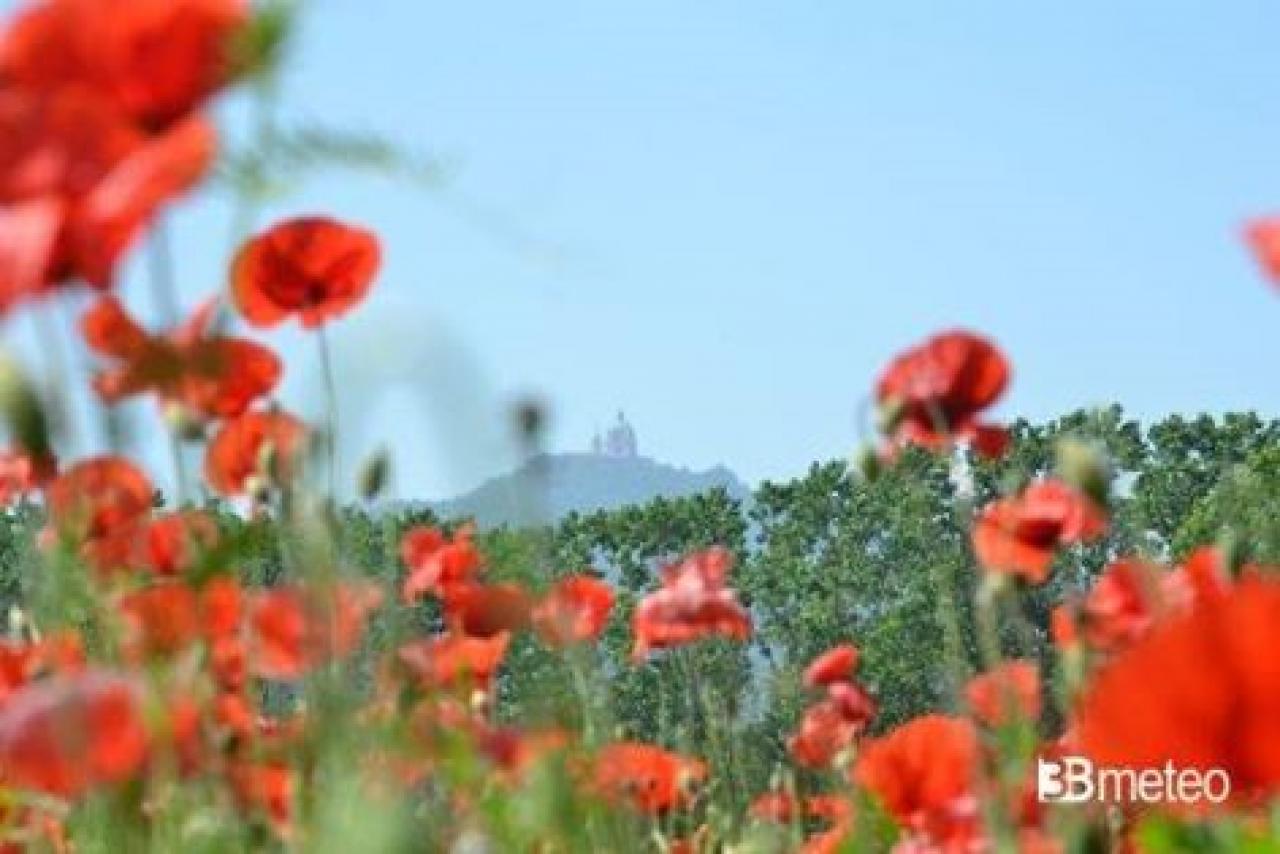 La collina dove sorge la Basilica di Superga