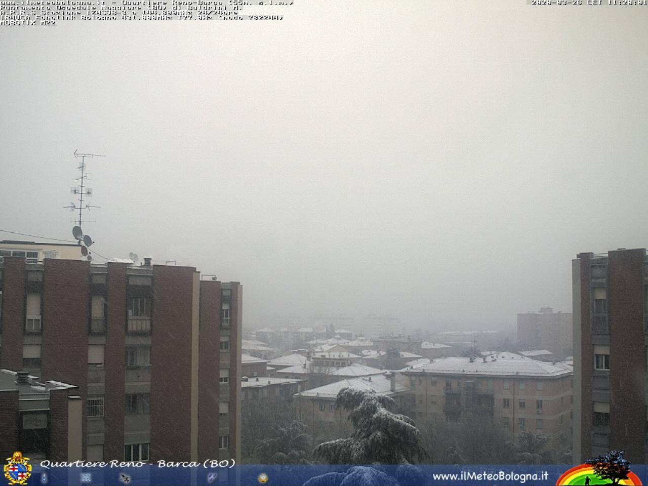 La neve di Bologna di questa mattina