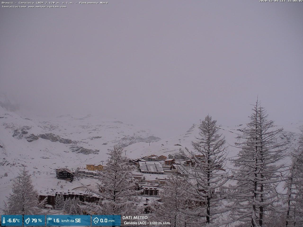 La neve sulle Alpi, Cervinia