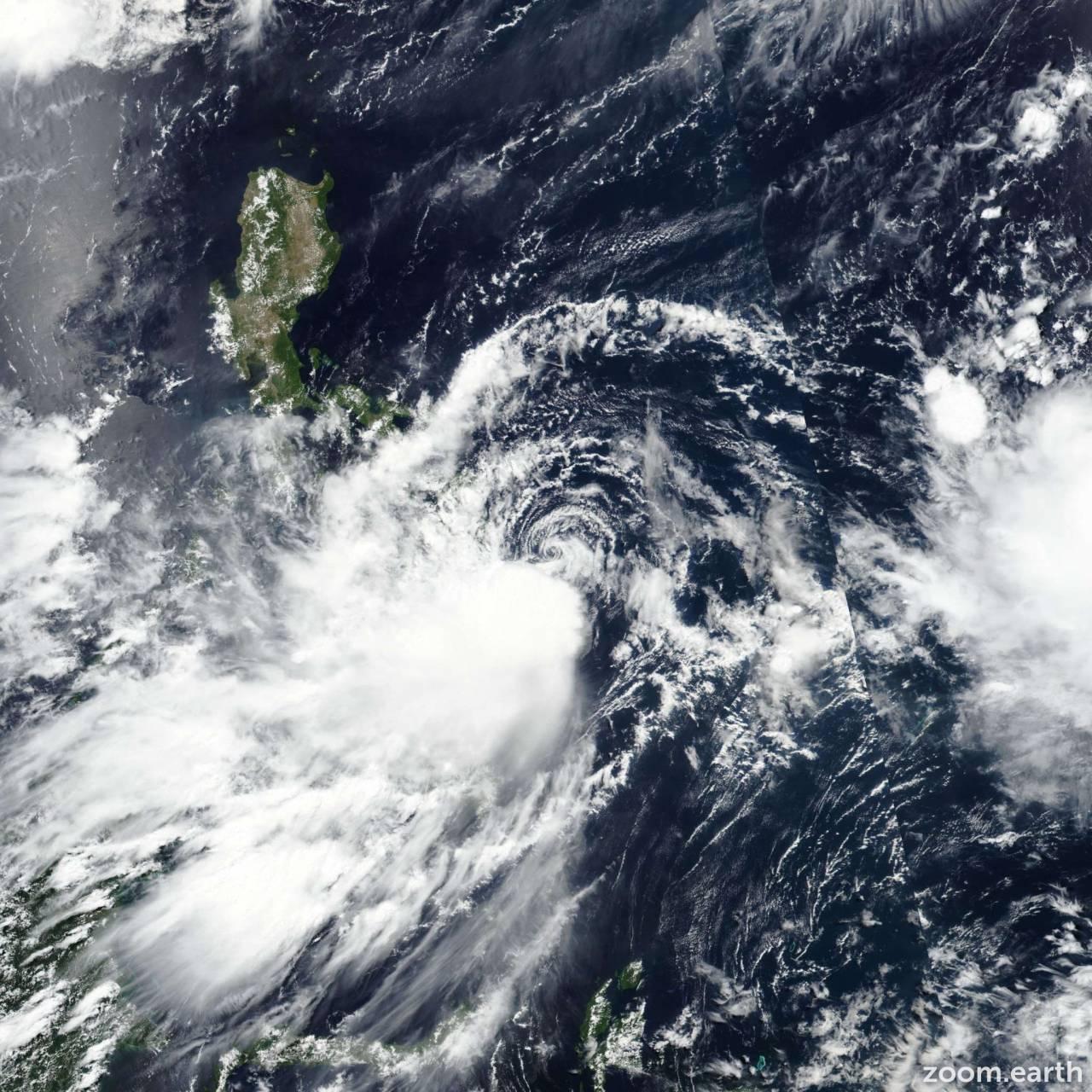 La tempesta Dante prima di raggiungere Tawian