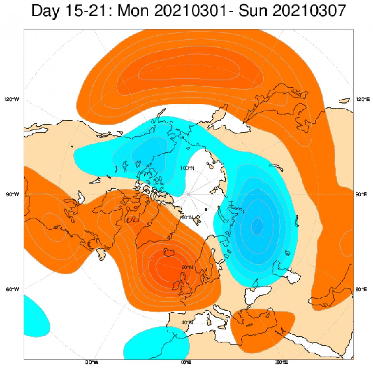 La tendenza tra l'1 e il 7 marzo in Europa: nuovo cambio di pattern, possibile un nuovo episodio freddo