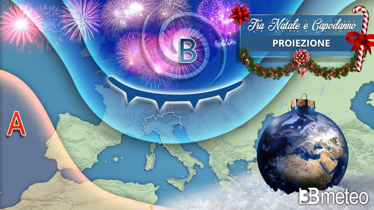 Le proiezioni meteo a scala europea tra Natale e Capodanno