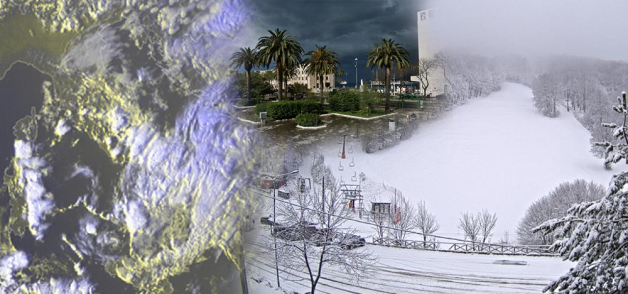 Maltempo al Centro Sud con piogge, temporali e neve