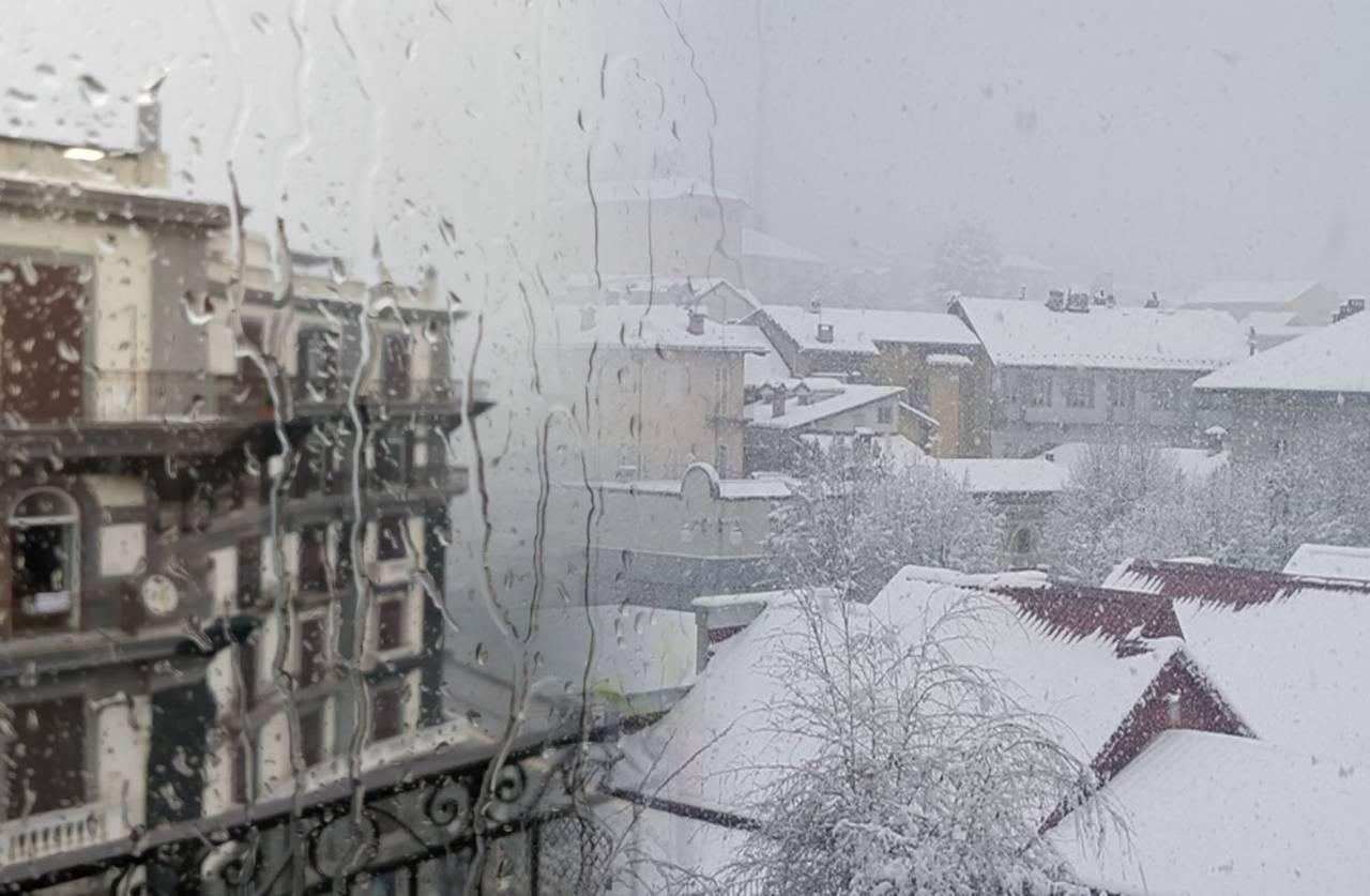 Maltempo invernale sull'Italia con pioggia in pianura e neve fino a quote collinari