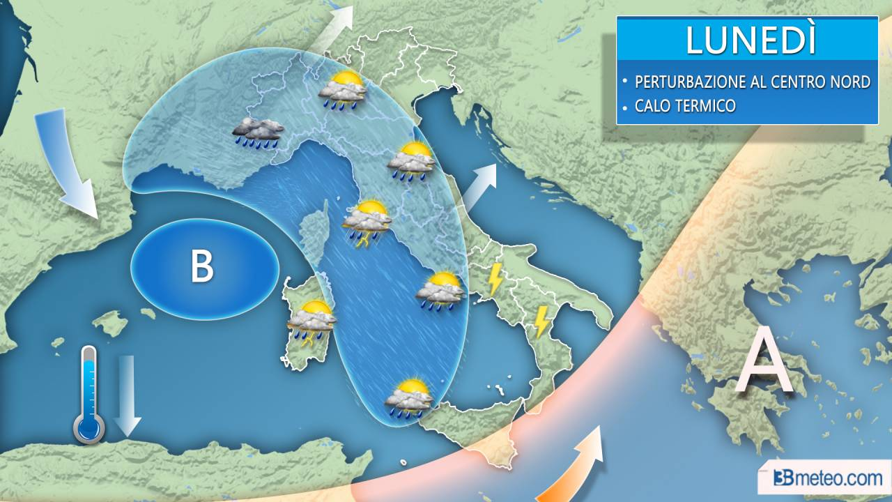 Meteo Italia - Con la nuova settimana torna il maltempo, attese piogge e temporali su molte regioni. Qui i dettagli