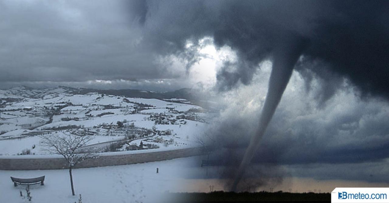 Maltempo, temporali, tornado e neve su mezza Europa