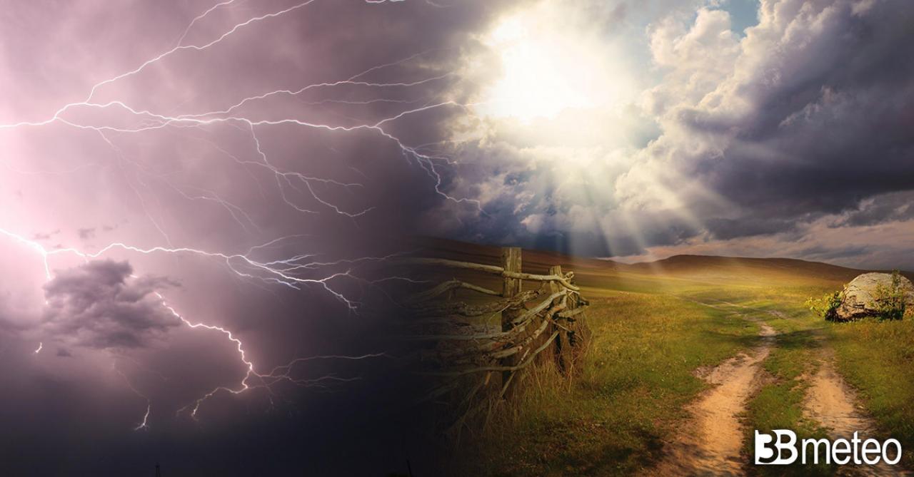 Meteo. Tra lunedì e martedì tornano alcune piogge e temporali