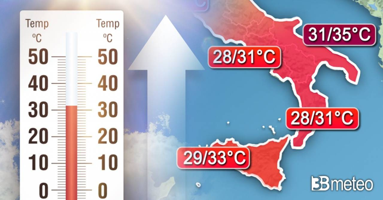 Meteo: caldo africano in arrivo al Sud, apice lunedì
