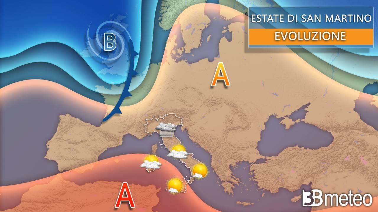 Meteo estate di San Martino, la previsione