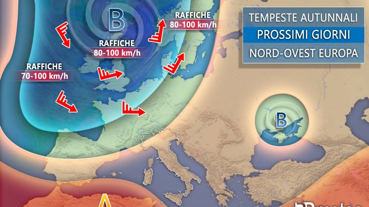 Meteo Europa. Situazione prevista tra fine della settimana e inizio della prossima