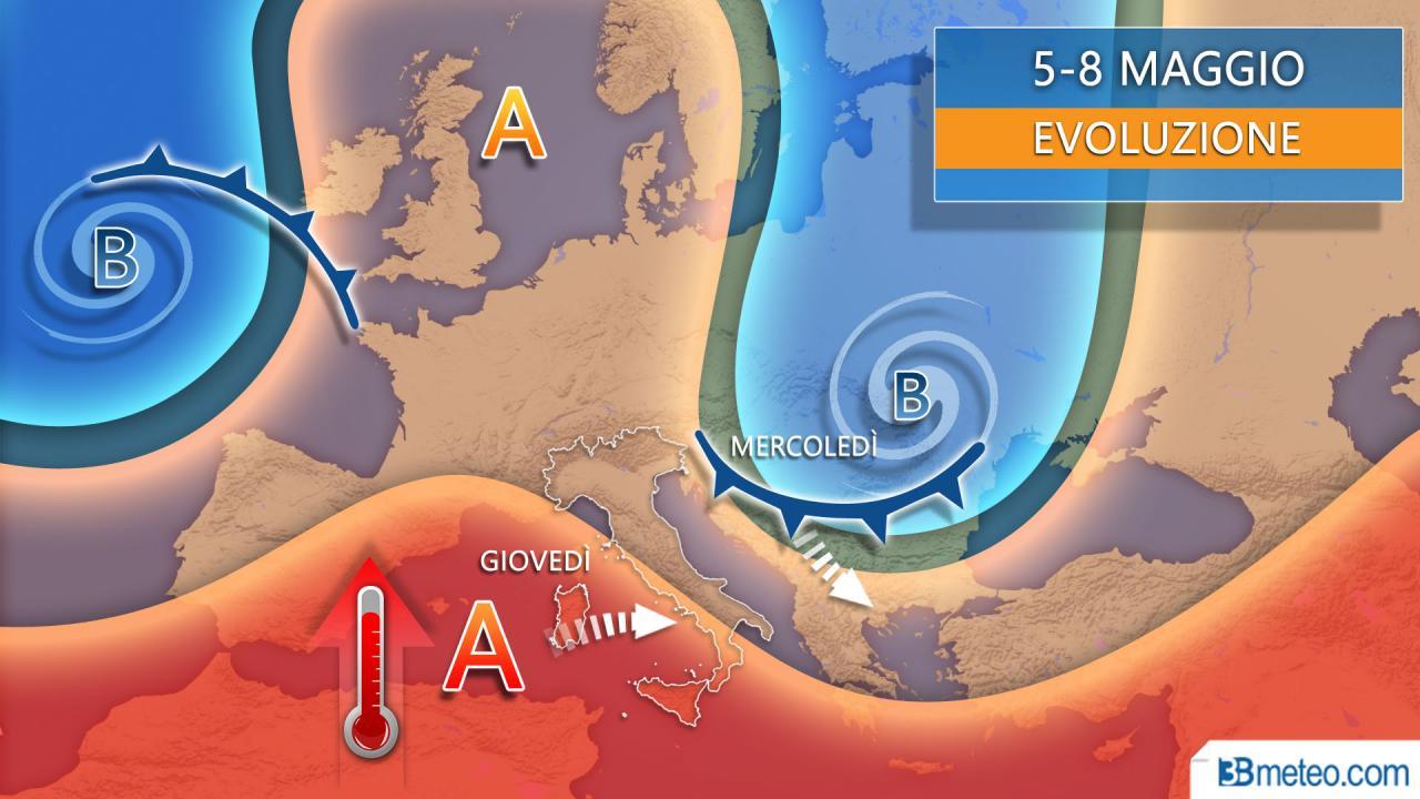 Meteo fase 2 tra anticiclone e insidie da est