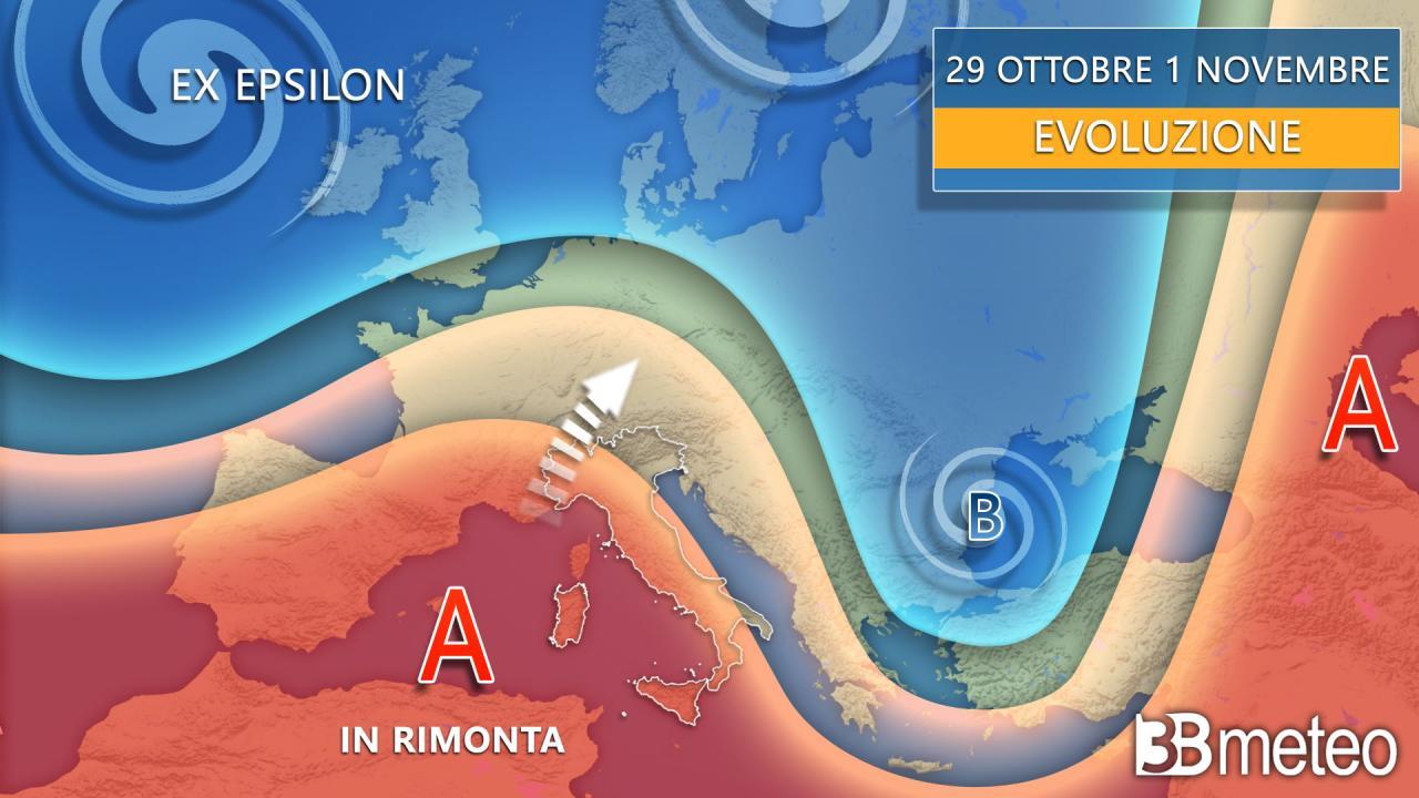 Meteo fine ottobre inizio novembre torna l'anticiclone africano