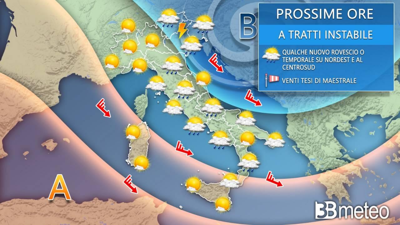 Meteo giovedì 20 maggio, previsione prossime ore