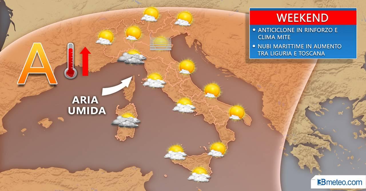 Meteo, il tempo nel weekend in Italia