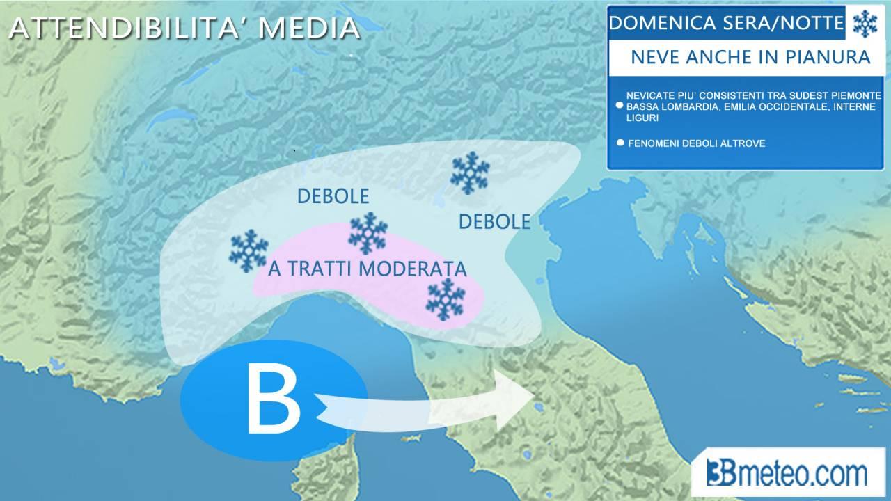 METEO / domenica NEVE ANCHE IN PIANURA sul NORD ITALIA, ultimi aggiornamenti