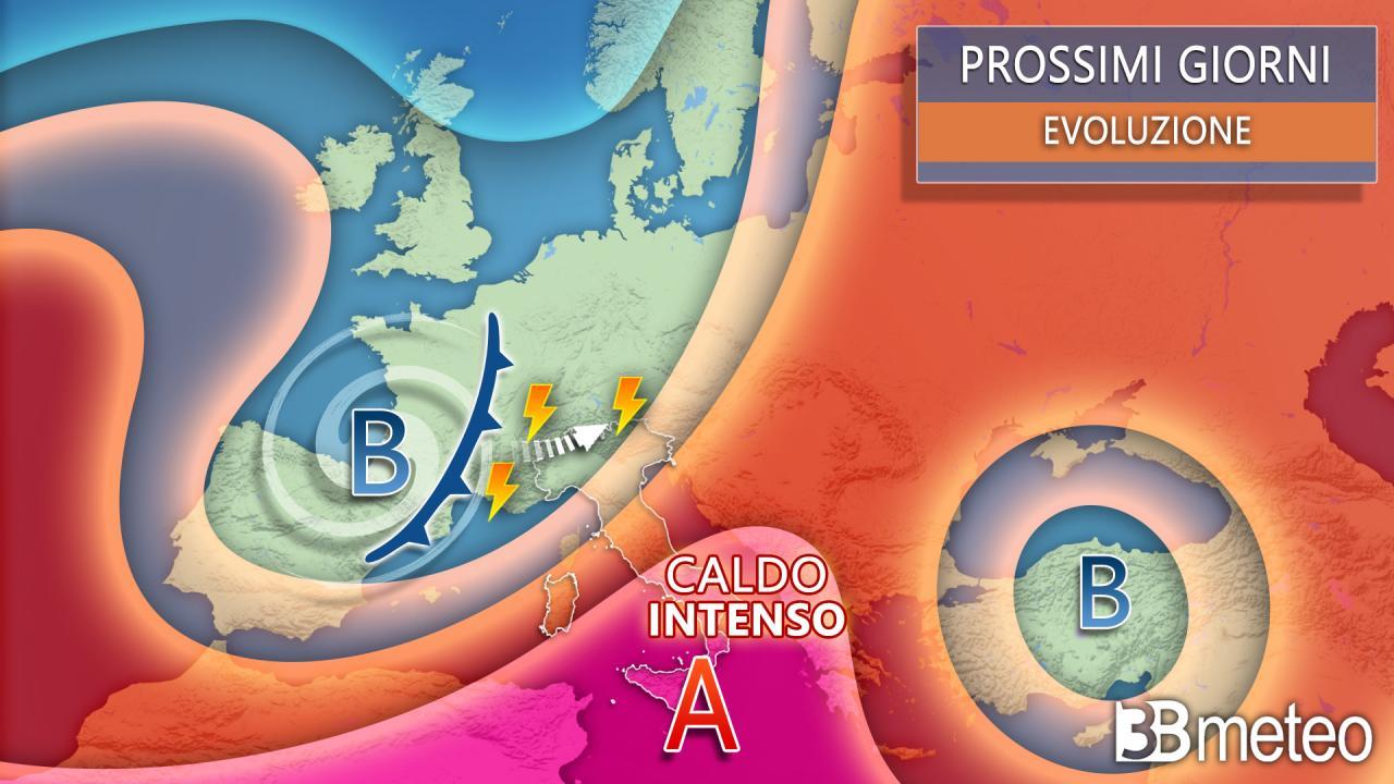 Meteo Italia Europa prossimi giorni