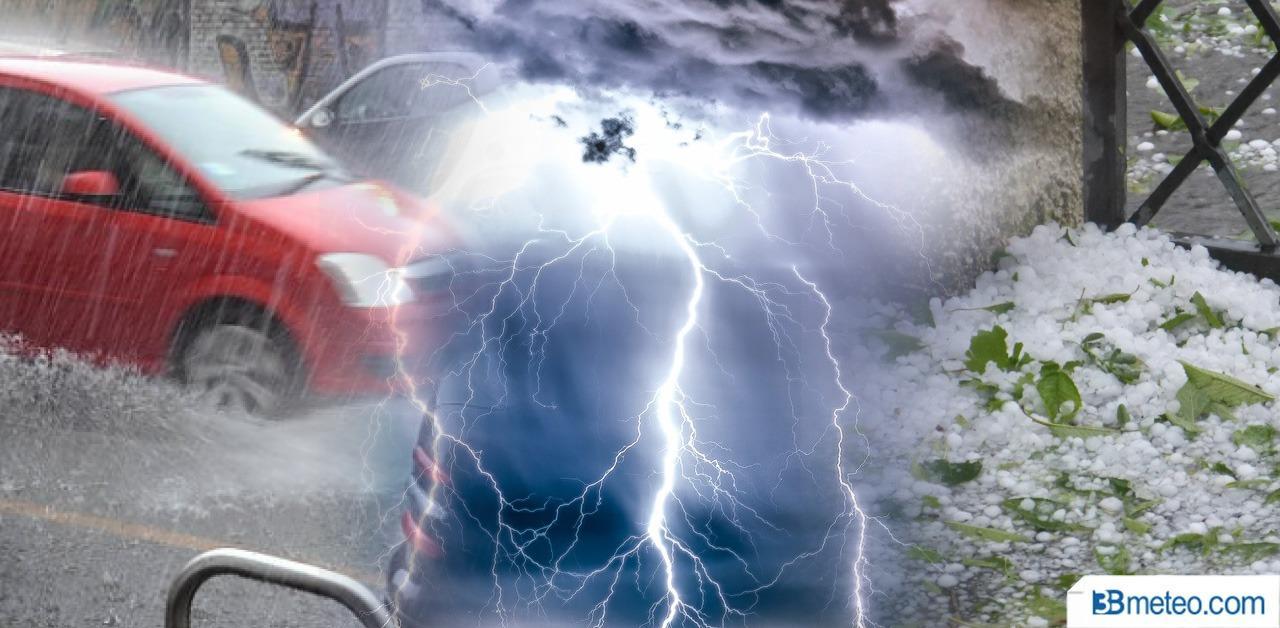 Meteo Italia: forti temporali con grandine, nubifragi e allagamenti