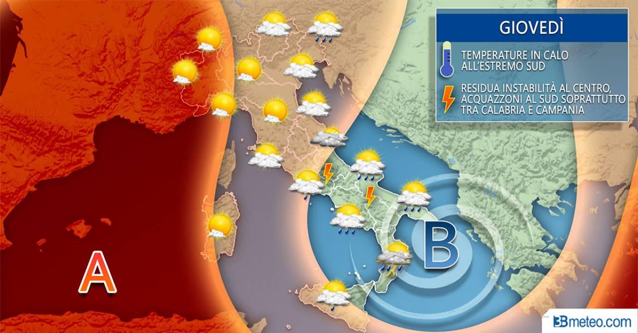 Maltempo, ancora temporali al Sud: scatta l'allerta meteo arancione