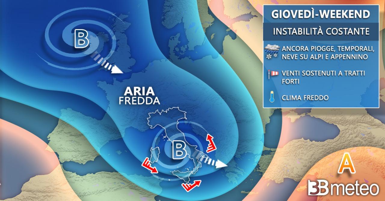 Meteo Italia giovedì/weekend