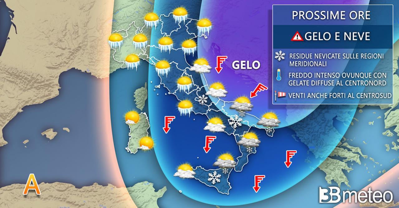 Meteo Italia: la previsione per lunedì