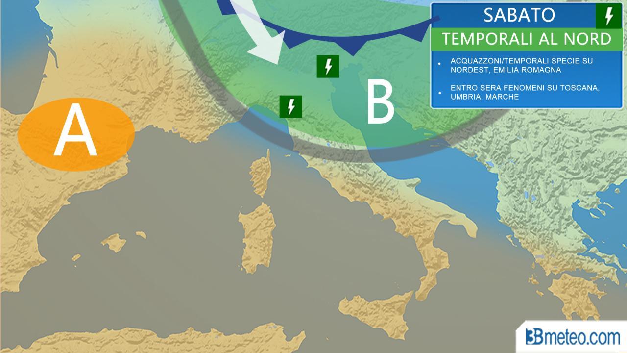 Meteo italia weekend di pasqua con qualche temporale pi sole a pasquetta 3b meteo - 3b meteo bagno di romagna ...