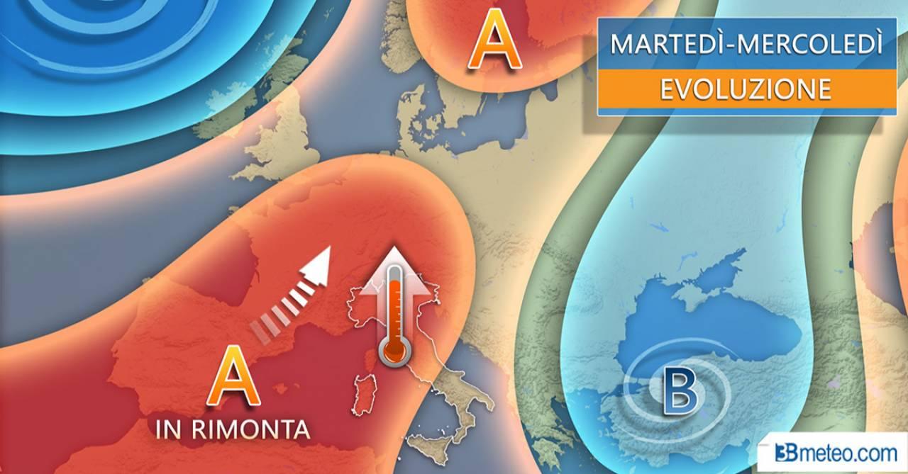 Meteo Italia: la situazione prevista