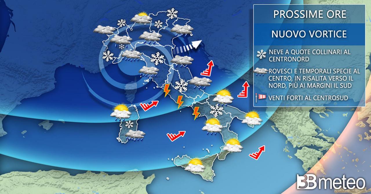 Meteo Italia martedì 5 gennaio