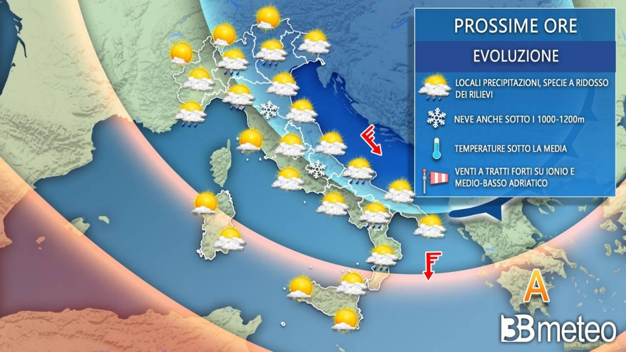 Meteo Italia mercoledì. Spiccata variabilità e clima fresco