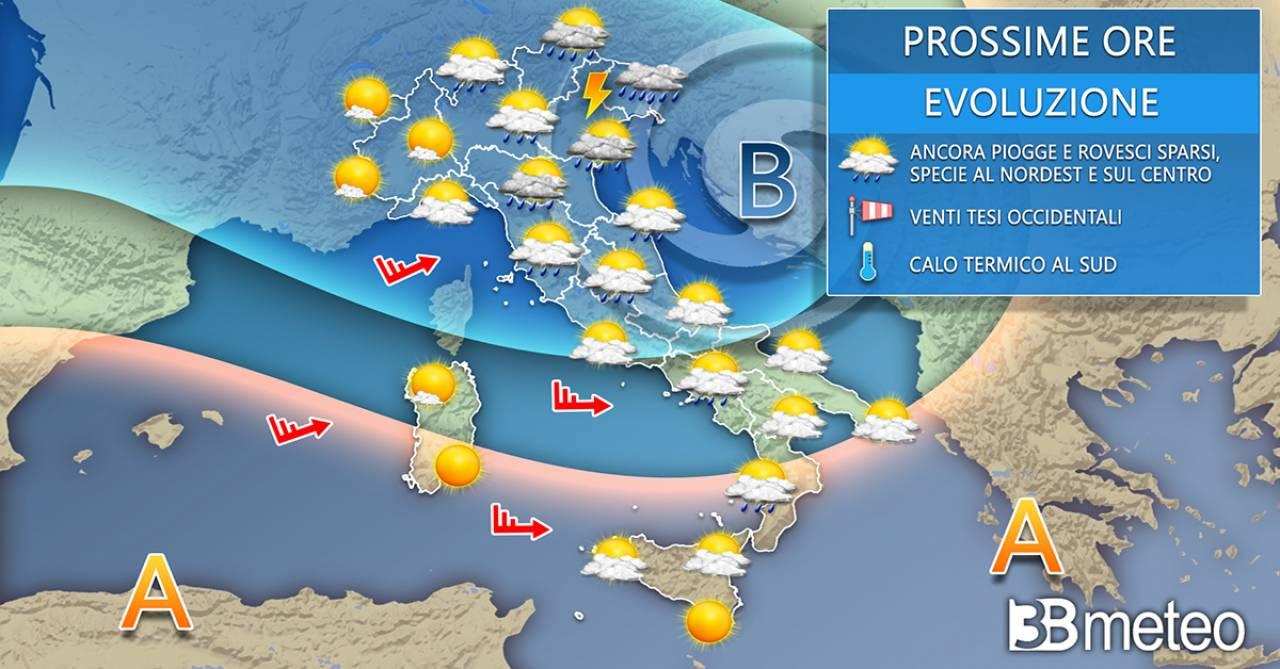 Meteo Italia mercoledì. Tempo ancora a tratti instabile