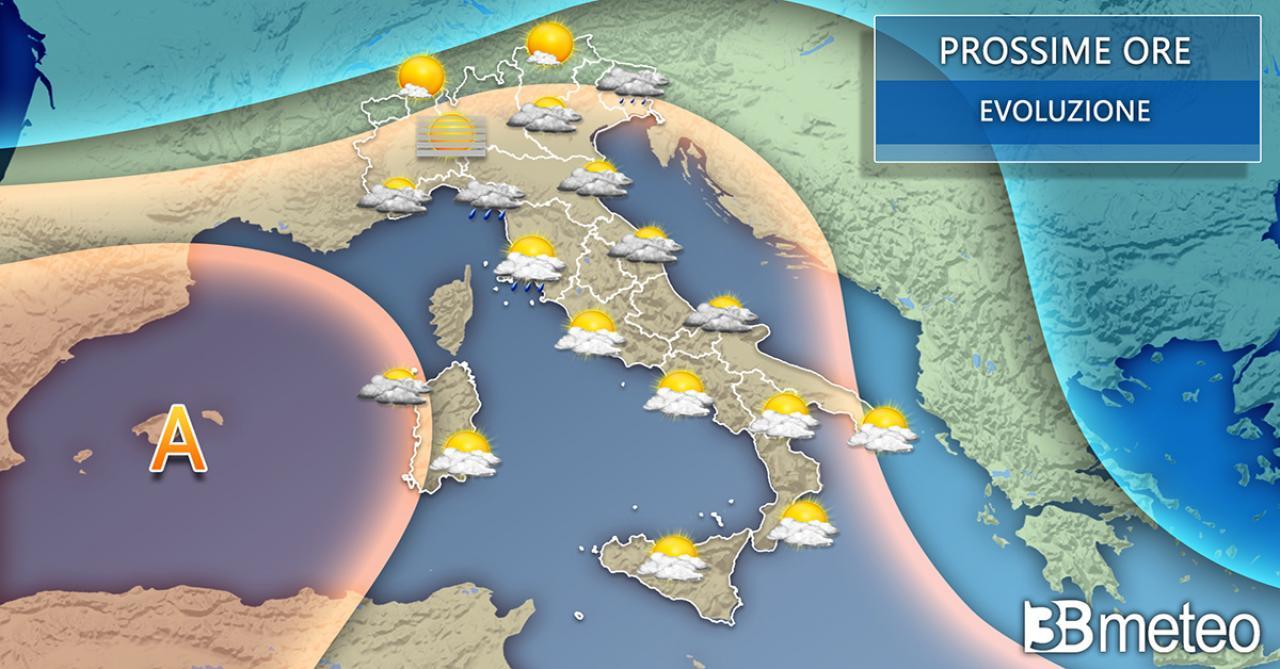 Meteo Italia mercoledì