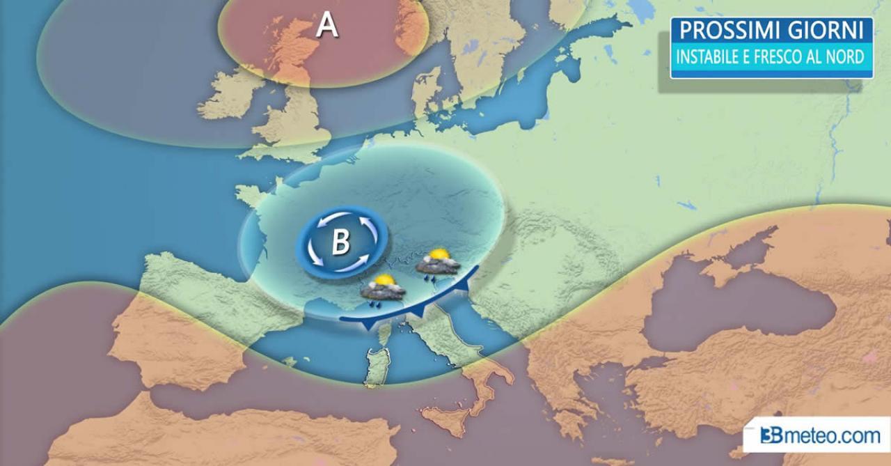 Meteo Italia - TRE PERTURBAZIONI in arrivo sulla penisola, nuove PIOGGE E NEVE SULLE ALPI