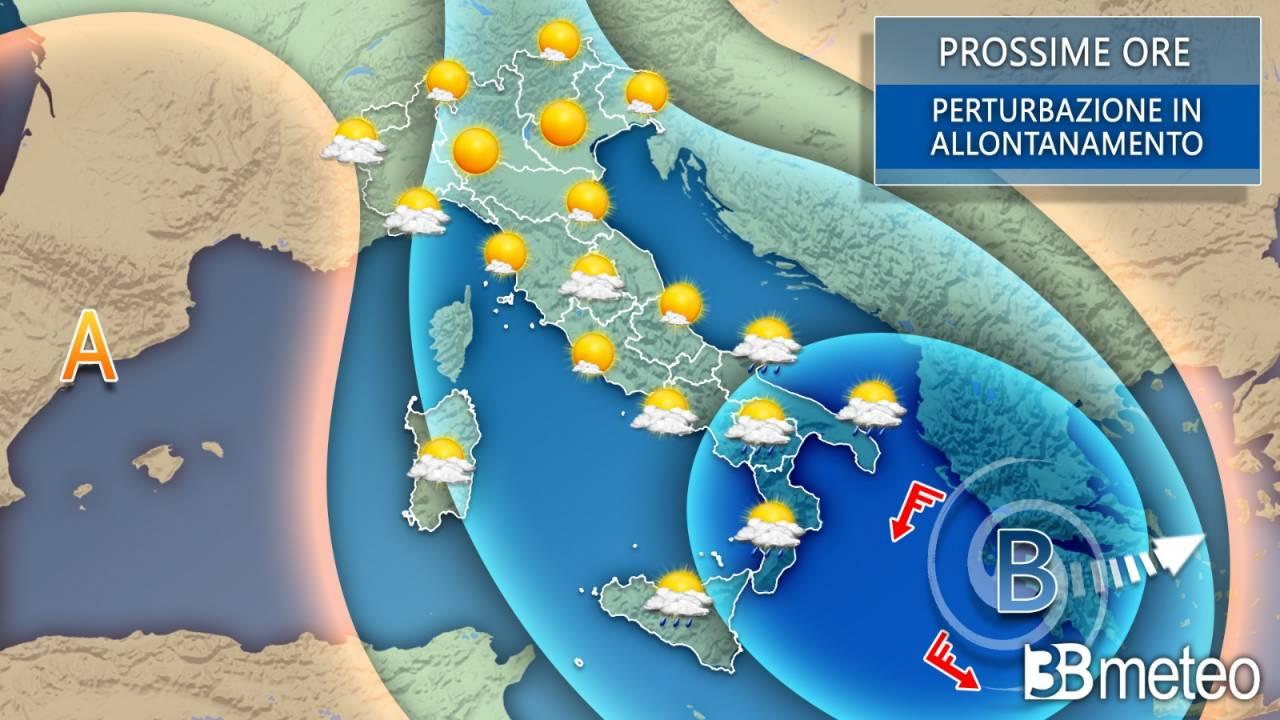 Meteo Italia prossime ore