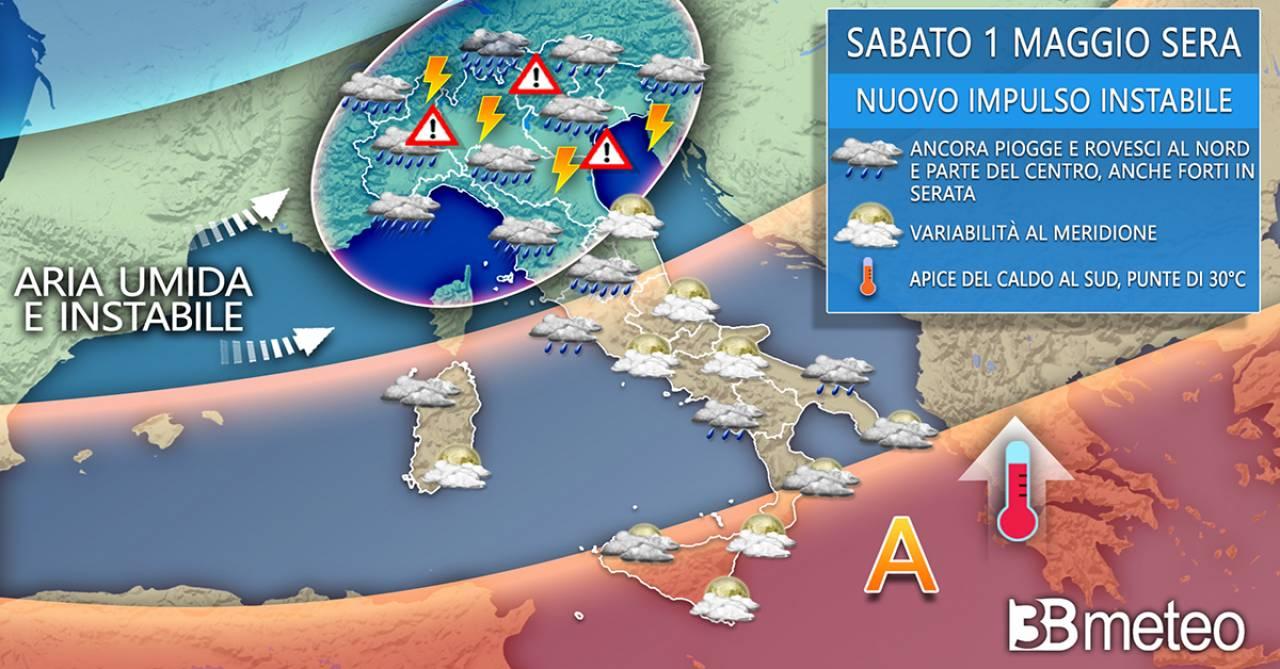 Italia Meteo sabato, 1 maggio