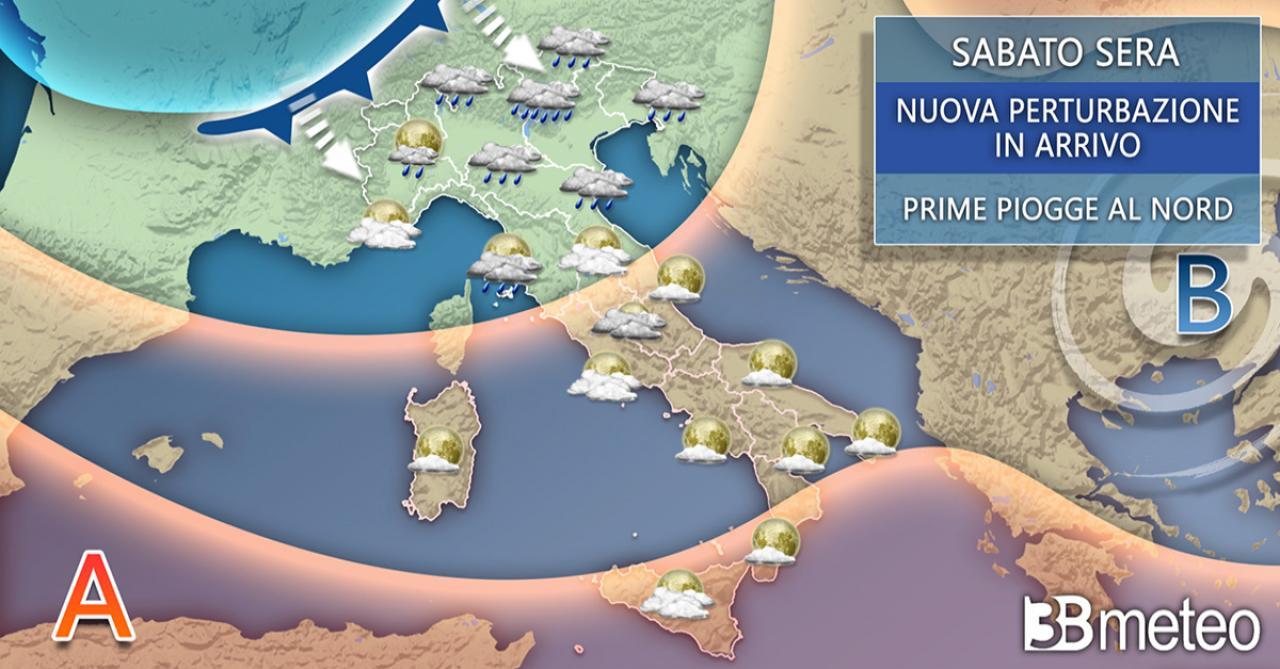 Meteo Italia sabato sera