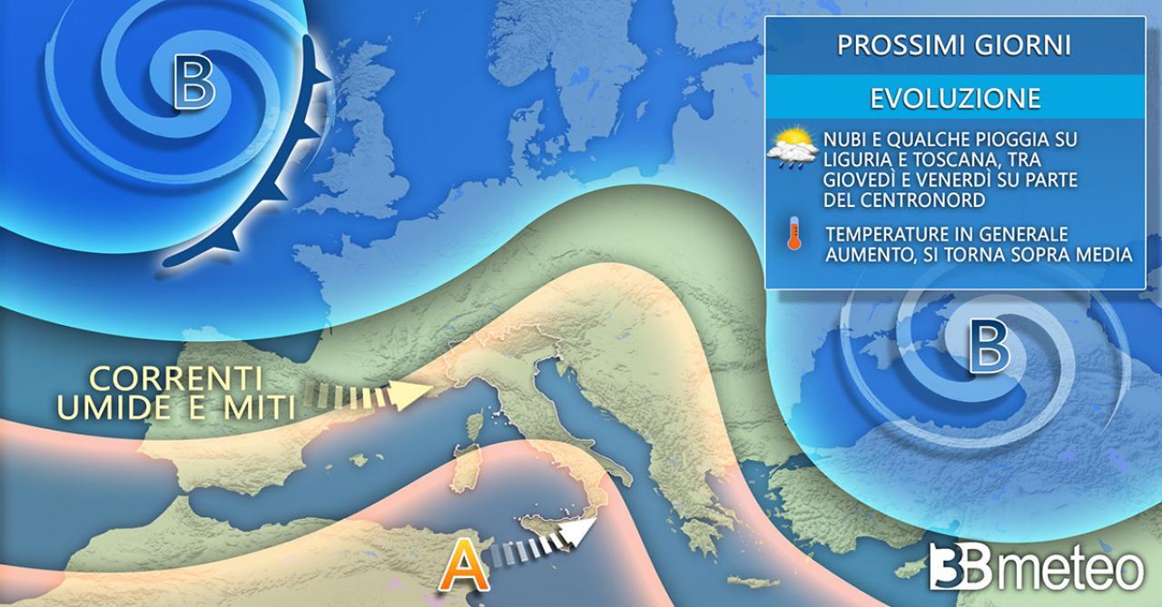 Meteo Italia: situazione prevista nei prossimi giorni