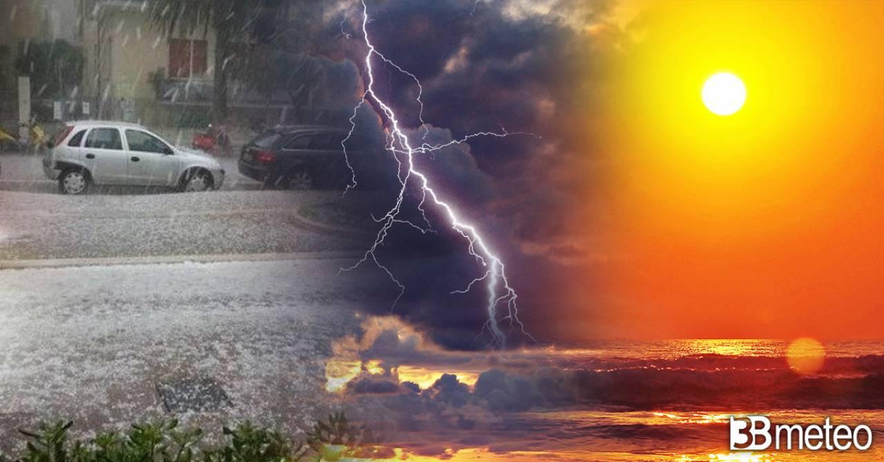 Meteo Italia, tra sole, caldo, afa e temporali