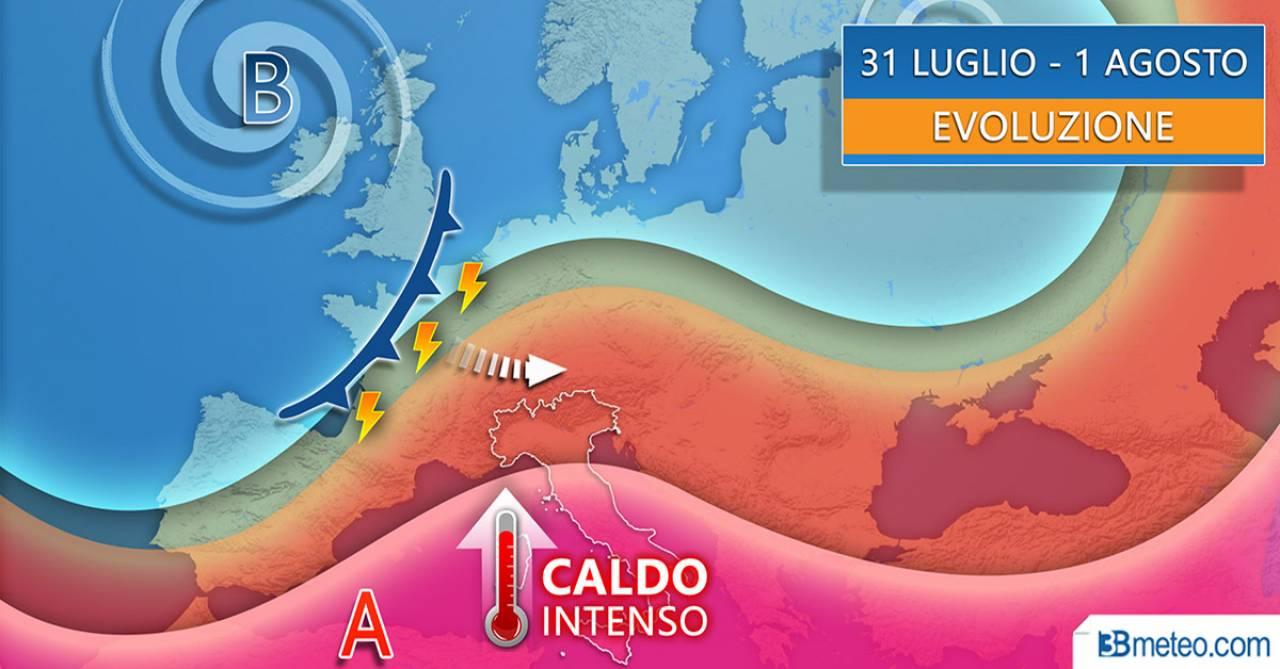 Meteo Italia venerdì e sabato