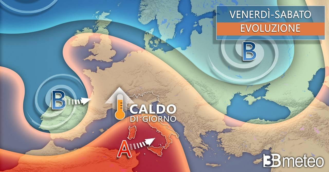 Meteo Italia, venerdì e sabato con l'anticiclone
