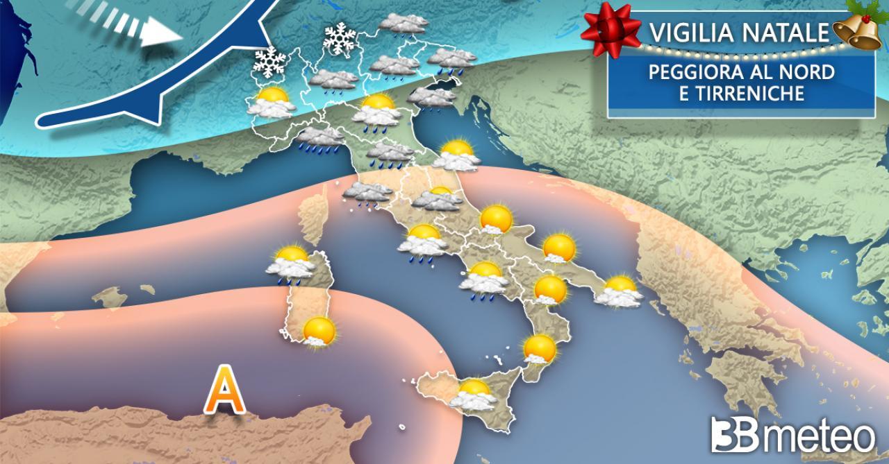Meteo Italia Vigilia di Natale