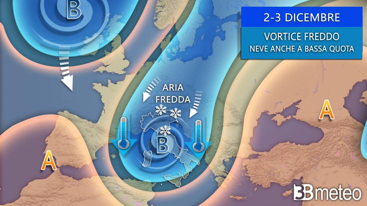 Meteo, l'inverno si fa avanti, vortice freddo tra mercoledì e giovedì