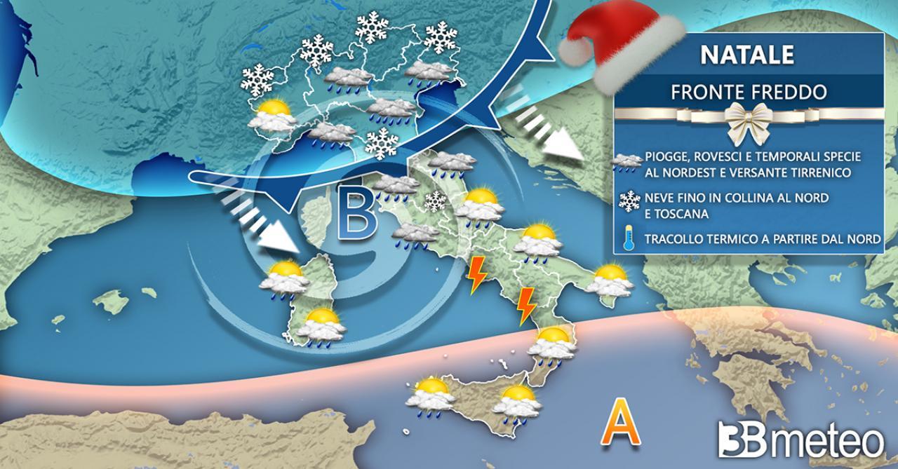 Meteo Natale, aria artica affluisce sull'Italia