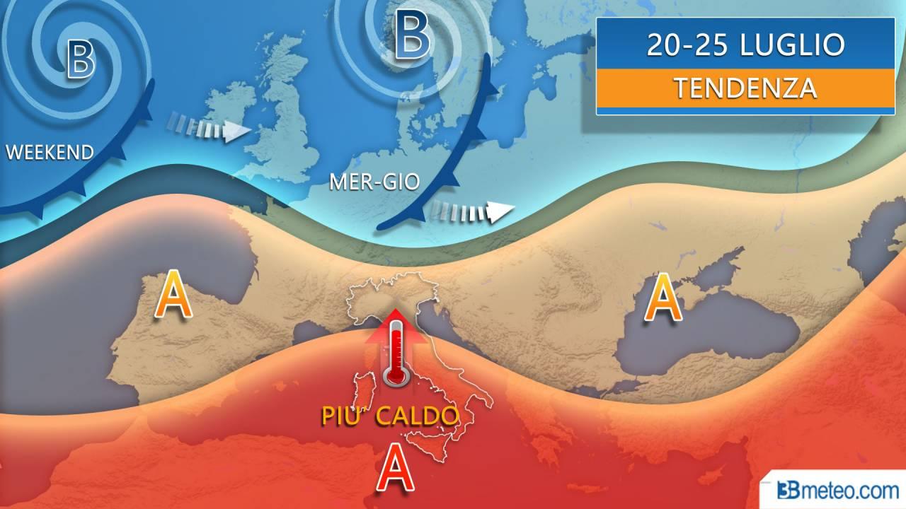 Meteo nuova settimana tra Alta pressione calda e break instabili