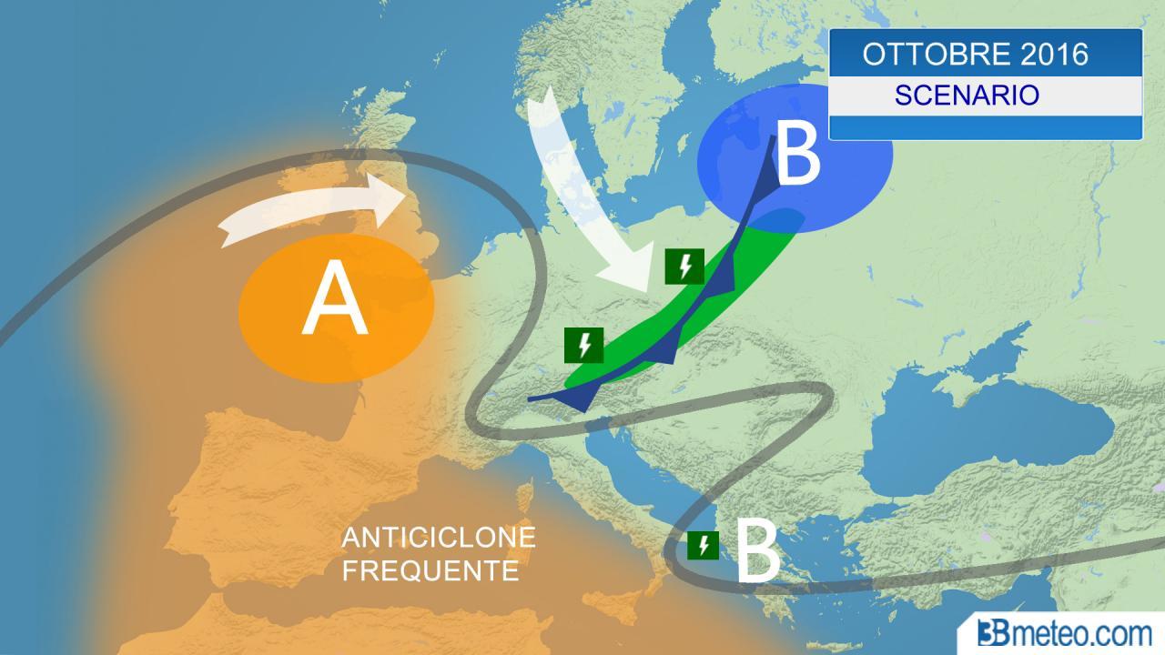Meteo ottobre 2016 fresche perturbazioni lambiscono l 39 italia 3b meteo - 3b meteo bagno di romagna ...