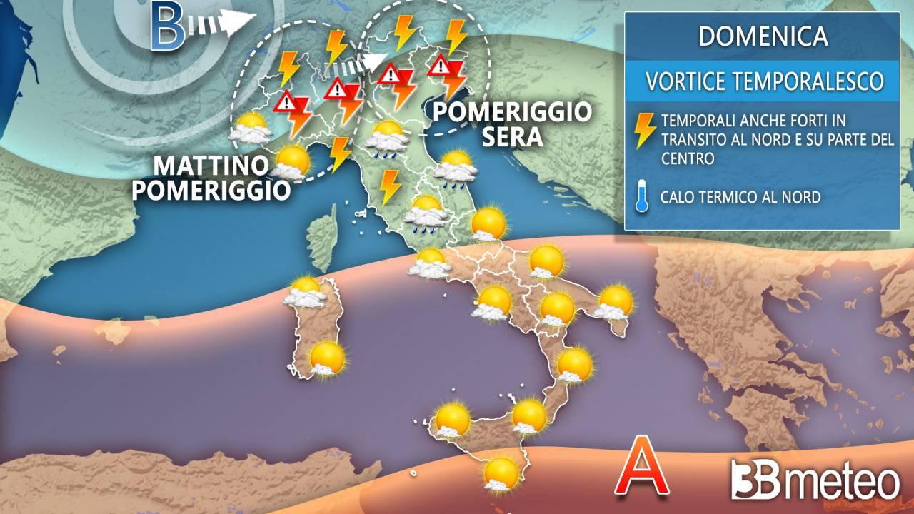 Meteo previsioni per domenica 19 settembre