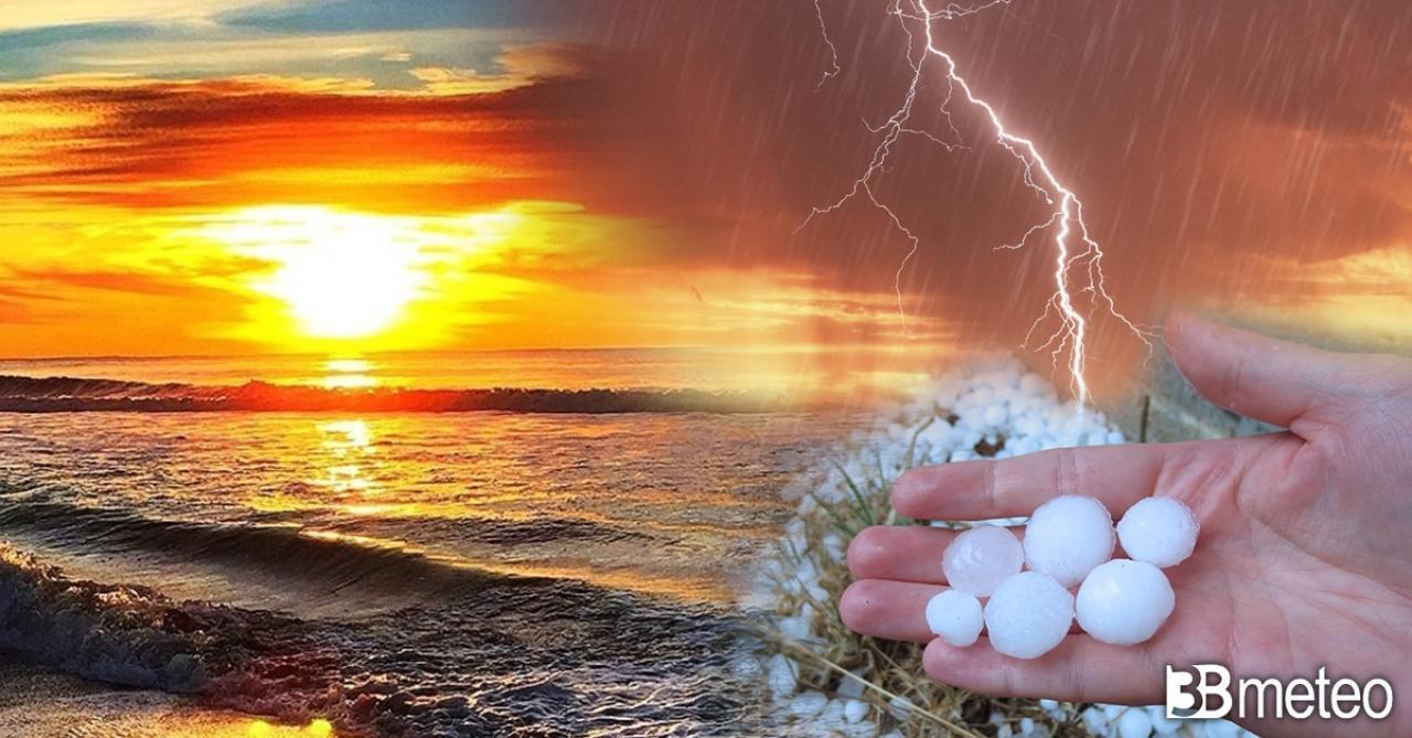 Meteo prossima settimana, tra caldo africano e nuovi temporali