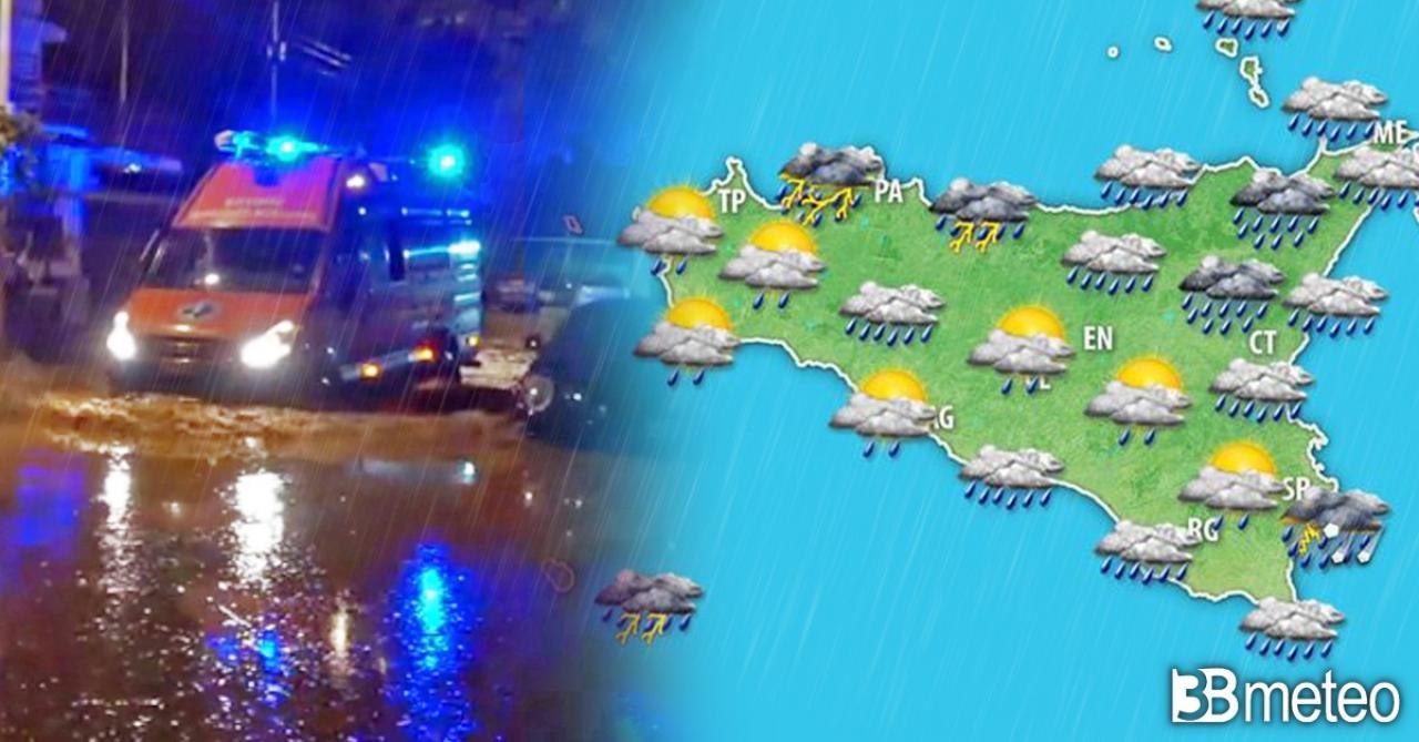 Meteo Sicilia: altri rovesci e temporali nelle prossime ore
