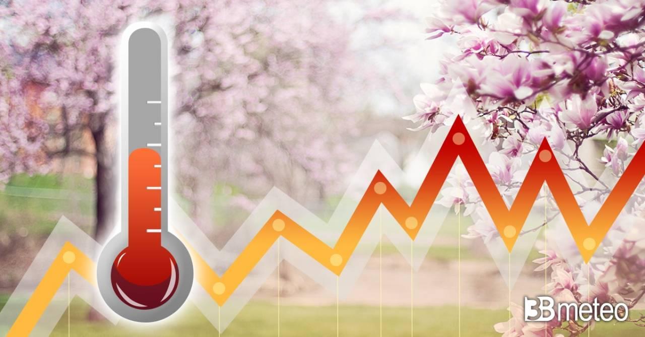 Meteo: temperature altalenanti, domenica apice del caldo
