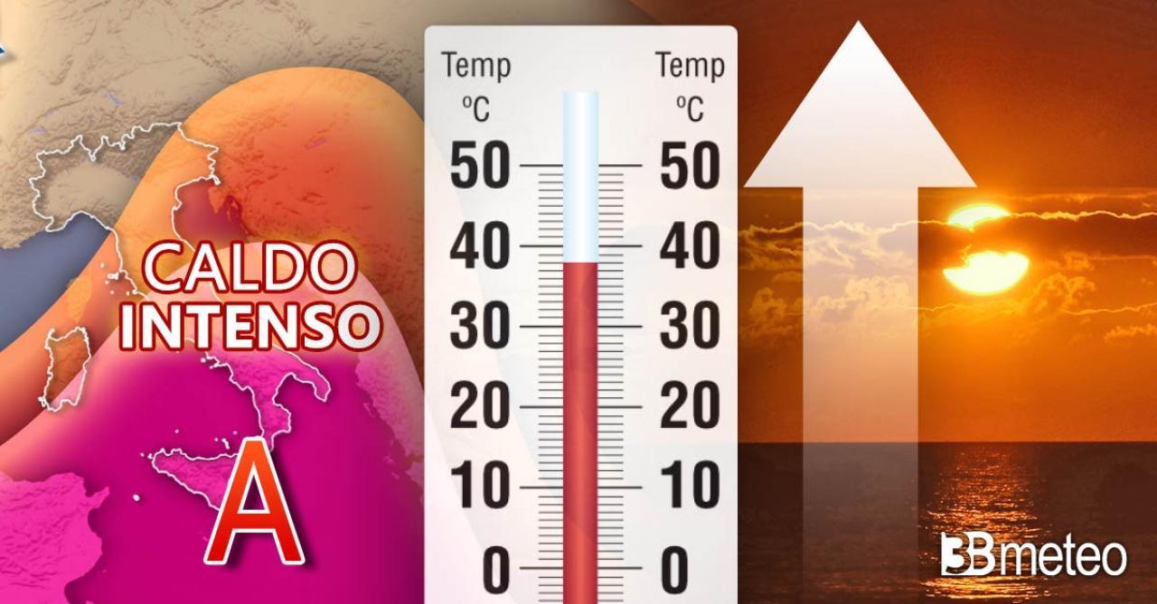 Meteo temperature, caldo intenso in arrivo sull'Italia, punte anche superiori ai 40°C